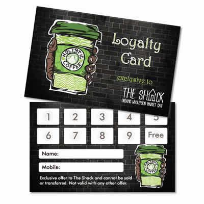 Holistic coffee loyalty card